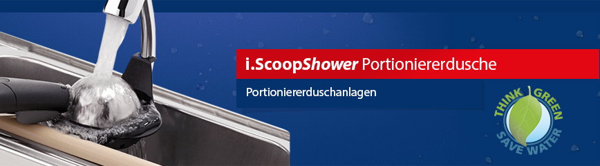 i.ScoopShower Silver WATERSTOP XL