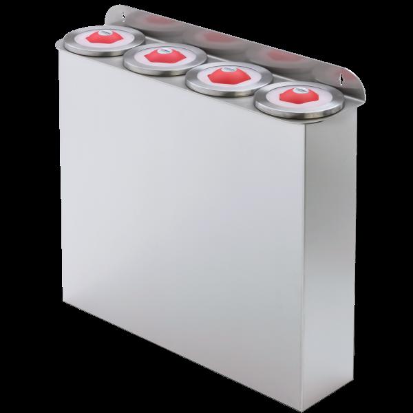 Becherspender Kunststoff Wandmontage Edelstahl Röhrenlänge 600 mm