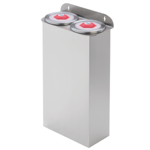 Cup dispensers plastic wall-mount stainless steel tube length 600 mm
