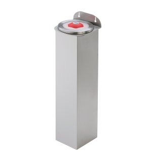 Cup dispenser plastic wall-mount stainless steel tube length 600 mm